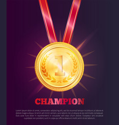 Champion poster text sample vector