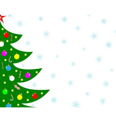 christmas card background with a tree vector image
