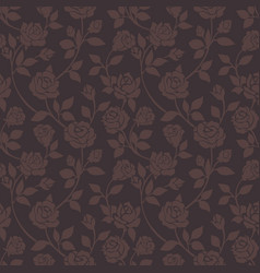 classic roses seamless dark pattern vector image