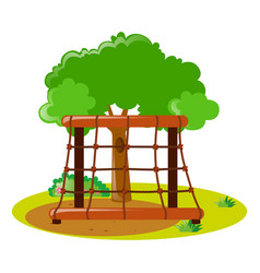 Climbing station in the park vector