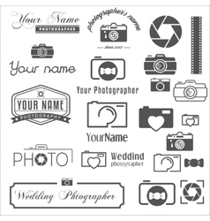 Collection of vintage retro and modern logo vector image