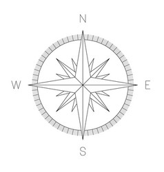 Compass rose - nautical chart travel equipment vector