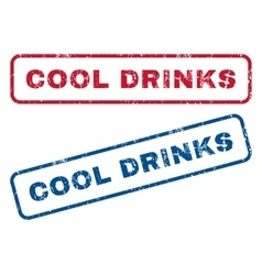Cool Drinks Rubber Stamps vector