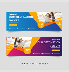 creative travel banner template collection vector image