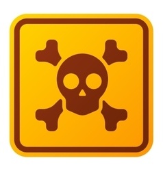 Danger sign skull icon vector image