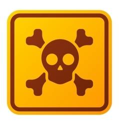Danger sign skull icon vector