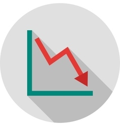 Declining Line Graph vector
