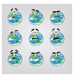 Earth emotions-part 2 vector