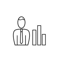 employee skills icon vector image