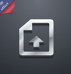 Export upload file icon symbol 3d style trendy vector