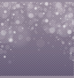 falling snow effect vector image