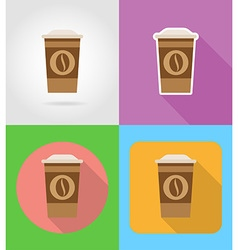 Fast food flat icons 04 vector