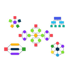 flowchart organization infographic diagram for vector image