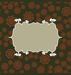 Frame on seamless pattern background vector