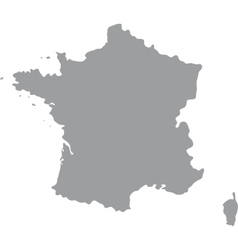 france map gray on a white background vector image