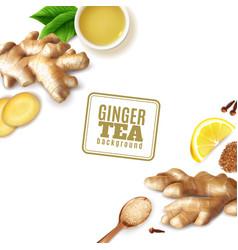 Ginger tea background vector