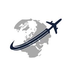 global traveling travel around world vector image