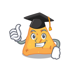 Graduation nachos character cartoon style vector