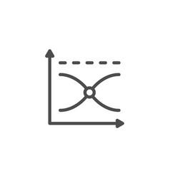 graph line icon vector image