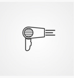 hair dryer icon sign symbol vector image