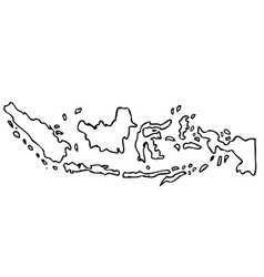 hand draw sketch outline sketch map indonesia vector image