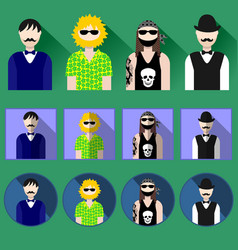 icon with male flat style vector image