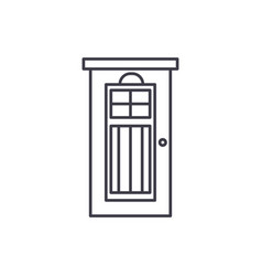 interroom door line icon concept interroom door vector image