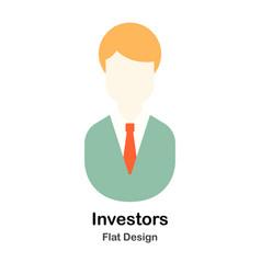Investor flat vector