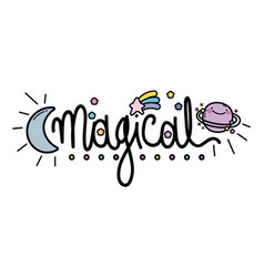 Isolated magical word design vector