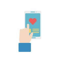 isolated smartphone icon design vector image