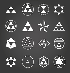 Japan religious symbols sacred geometry set vector image