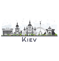 Kiev ukraine city skyline with gray buildings vector
