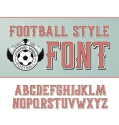 Label font Football style vector
