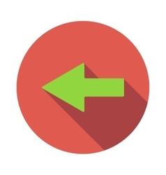 Left green arrow icon flat style vector image