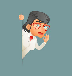 look out corner female professor expert scientist vector image