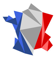 low poly style map of france vector image