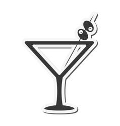 Martini cocktail icon vector