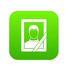 memory portrait icon digital green vector image
