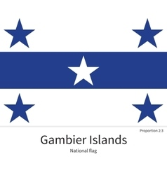 National flag of Gambier Islands with correct vector