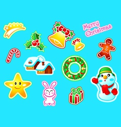 new year stickers vector image