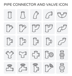 pipe connector icon vector image