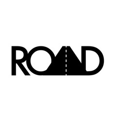 road typography icon way symbol stock isolated vector image