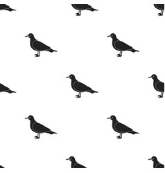 Seagull icon in black style isolated on white vector