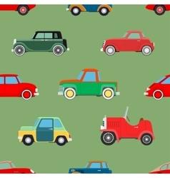 Seamless wallpaper of cars vector