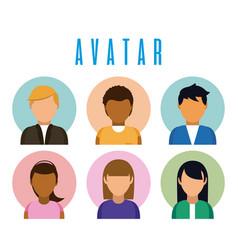 Set of avatar profiles vector