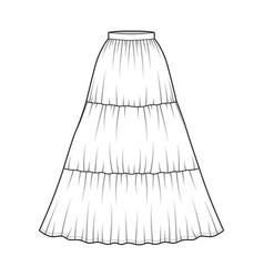 Skirt gypsy dirndl technical fashion vector