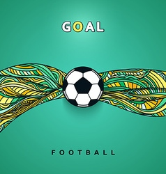 Soccer ball banner with background Football ball vector