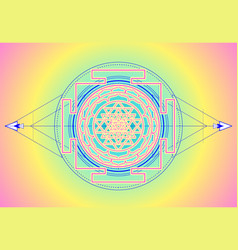 sri yantra or sri chakra form mystical vector image