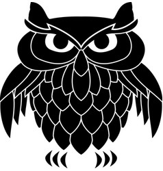 Stencil of owl vector