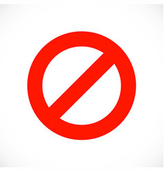 stop warning red symbol template vector image